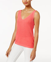 Bar III V-Neck Sweater Shell, Created for Macy's