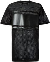 Givenchy paneled mesh T-shirt - men - Polyamide/Polyester/Viscose - XS