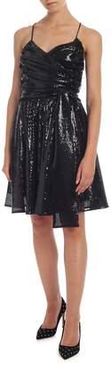 MSGM Black Sequin Dress