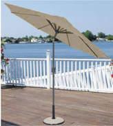 Asstd National Brand 9' Outdoor Patio Market Umbrella with Hand Crank and Tilt - Sage/Brown and Black