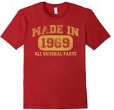 Børn Men's in 1969 Tshirt 48th Birthday Gifts 48 yrs Years Made in Small