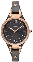 Fossil Ladies Georgia Black Leather Watch