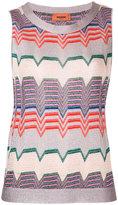 Missoni geometric pattern sleeveless blouse - women - Polyester/Rayon/Viscose - 40