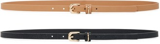 Forever New Hayley Two-Pack Belts - Tan /Black - m l