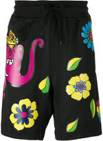 Moschino printed Bermuda shorts - men - Polyester/Cotton - XS