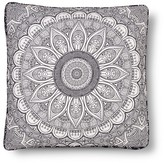 Mudhut Maison Flower Floor Pillow Black (26x26