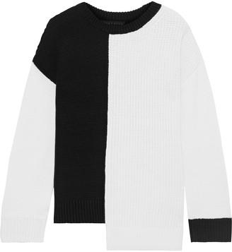 Alice + Olivia Sparrow Asymmetric Ribbed-knit Sweater