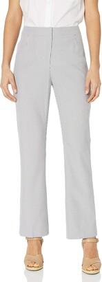 Kasper Women's Petite Size Pinstripe Seersucker Pant