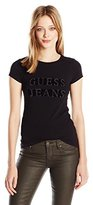 GUESS Women's Short Sleeve R3 Block Logo Tee