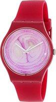 Swatch Unisex SUOP105 Onione Analog Display Quartz Red Watch