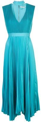 Alice + Olivia Pleated Midi Dress