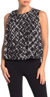 Calvin Klein Sleeveless Pleated Blouse (Petite)