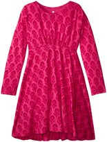 Pink Chicken Romy Dress (Toddler/Kid) - Pink Floral Block Print - 6 Years