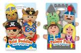 Melissa & Doug Adventure Hand Puppets (Set of 2, 4 puppets in each) - Bold Buddies and Palace Pals