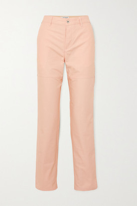 Loewe Ken Price La Palme Printed Leather-trimmed High-rise Straight-leg Jeans - Pink