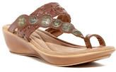 Minnetonka Marcia Loop Toe Wedge Sandal