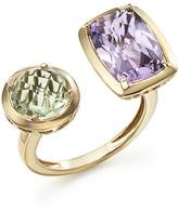 Bloomingdale's Rose de France Amethyst and Green Amethyst Statement Ring in 14K Yellow Gold - 100% Exclusive