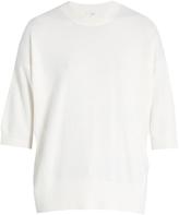 Vince Short-sleeved cashmere-blend sweater