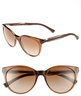 Emporio Armani Women's 55Mm Sunglasses - Brown