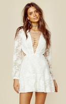 For love and lemons jolene lace-up dress