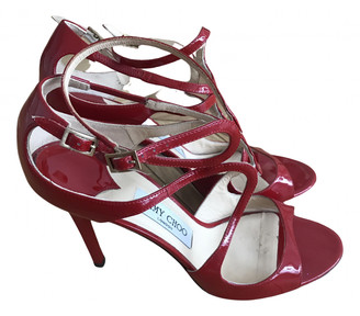 Jimmy Choo Lance Red Patent leather Sandals