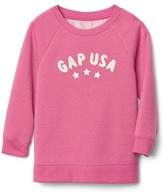 Gap Graphic raglan sweatshirt tunic