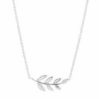 Fossil Olive Branch Sterling Silver Pendant Necklace