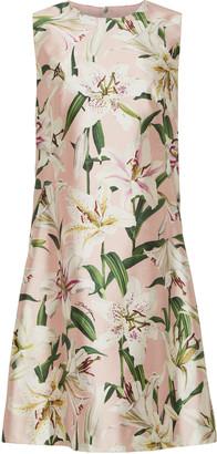 Dolce & Gabbana Floral-Print Silk-Satin Mini Dress