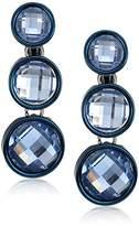 Anne Klein Linear Stone Clip-On Earrings