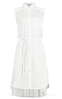 AllSaints Jenia Pleated Tie Waist Shirtdress - 100% Exclusive