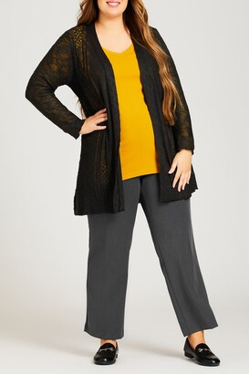 Avenue Pointelle Accented Cardigan