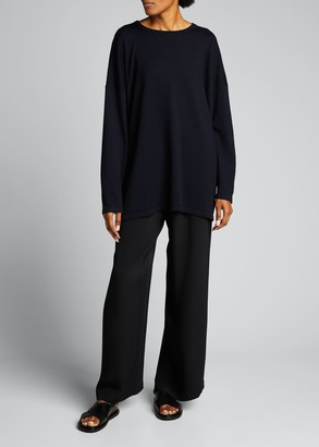 eskandar Long-Sleeve Cashmere-Blend Sweater