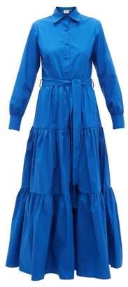La DoubleJ Bellini Tiered Cotton-poplin Dress - Womens - Blue