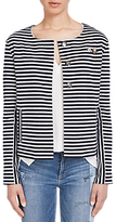 Oui Striped Jacket, Dark Blue/Grey