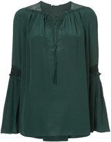 Vionnet bell sleeve blouse