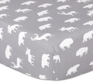 The Peanut Shell The Woodland Silhouette Fitted Crib Sheet Bedding