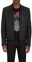 Balmain Men's Studded Quilted Leather Waiter's Jacket