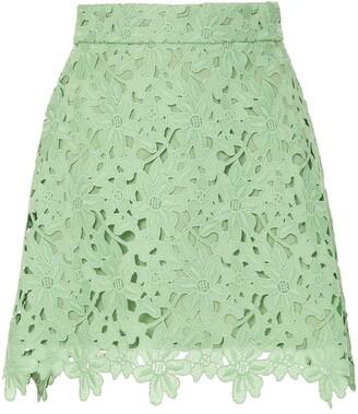 Bambah Lace Crochet Mini Skirt