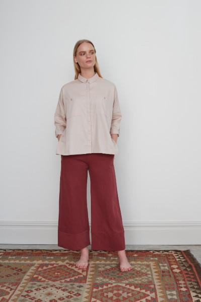 Beaumont Organic Cristina Lou Organic Cotton Shirt In Light Rose - Light Rose / Extra Small