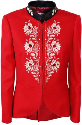 The Extreme Collection Red Classic Cut Blazer Kate