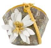 Nancy Gonzalez Iridescent Ring Lizard Lotus Crossbody Bag