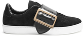 Burberry Westford low-top suede and leather trainers