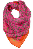 Silk palm trees printed scarf