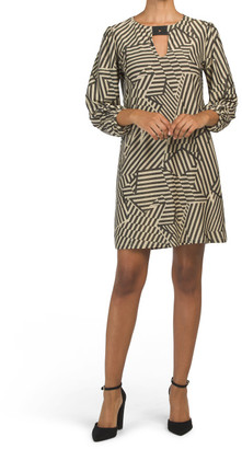 Jersey Lurex Print Dress