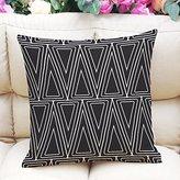 Texay(TM) Cushion Cover Decorative Pillows Fashion Stripe Dot Design Pillows Home Decorative Cushion Cover Housse De Coussin