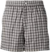 Brioni checked swimming shorts