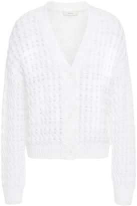 Vince Open-knit Cotton Cardigan