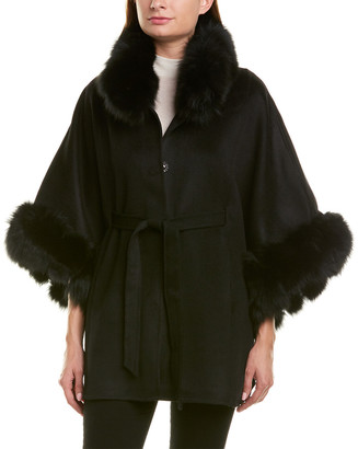 La Fiorentina Wool Wrap Cape