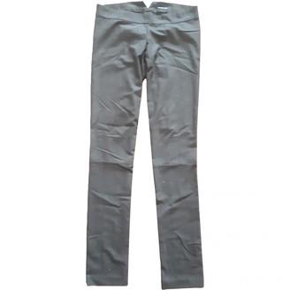 American Retro Grey Trousers for Women