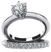 Epinki Custom Ring-925 Sterling Promise Rings For Her Cubic Zirconia Set US Size 6.5